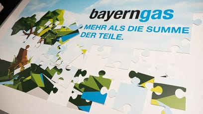 Messe, Unterlagen – Corporate Design Bayerngas GmbH