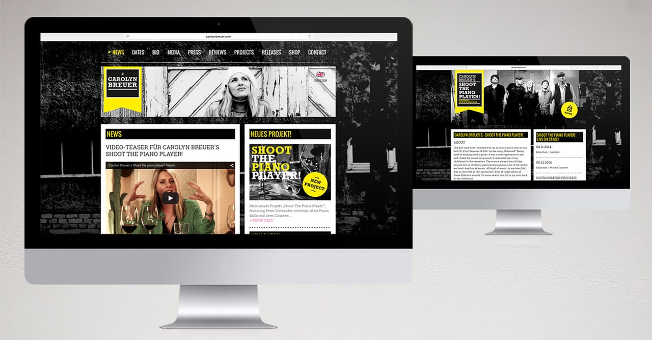 Branding, Corporate Design, Webdesign – Jazzmusikerin