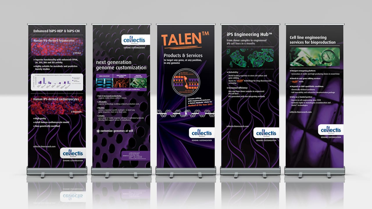 Corporate Design, Roll-Ups – Cellectis, Life Science