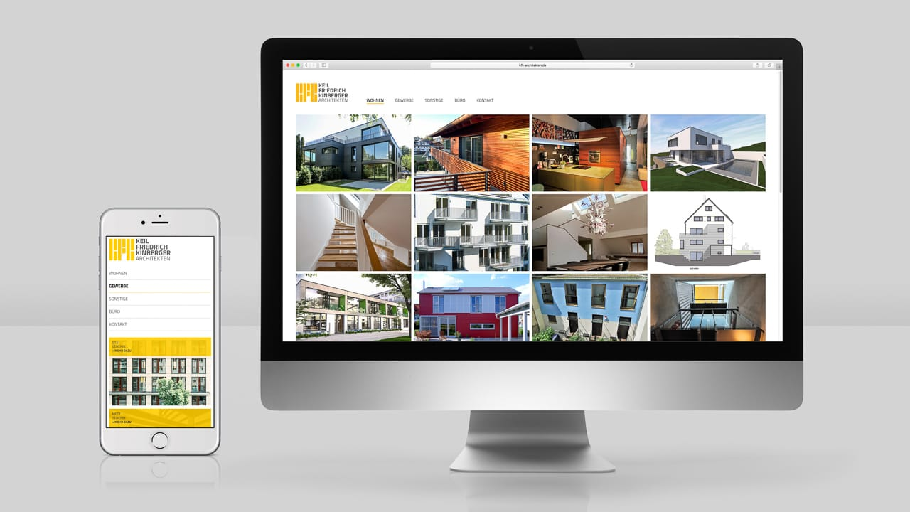 Corporate Website Beispiel: KFK Architekten