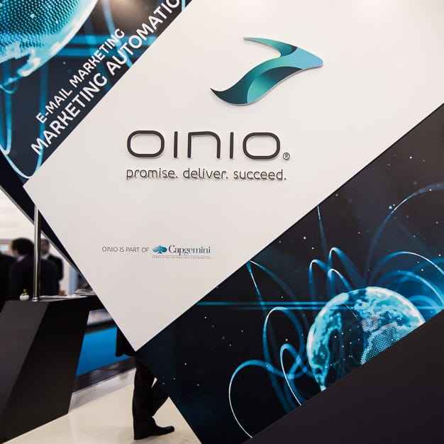 Messestand oinio auf der Internet World