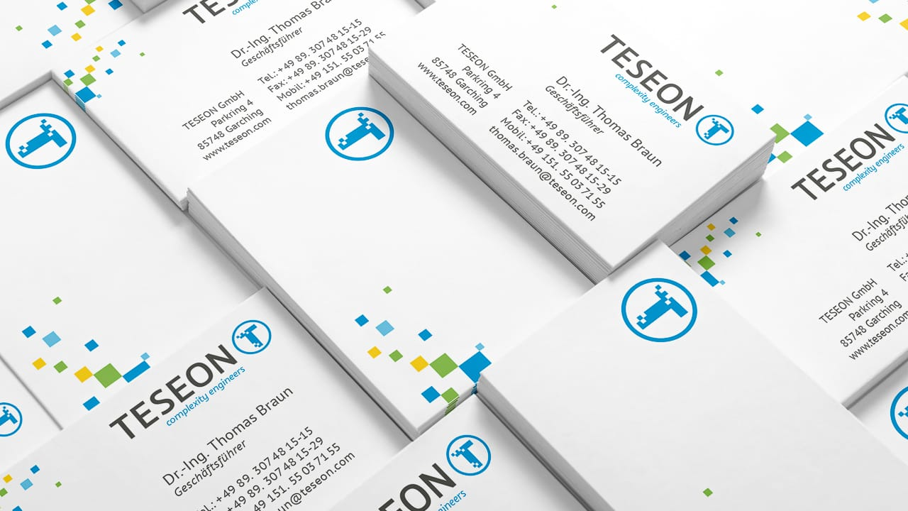 Visitenkarten TESEON Corporate Design