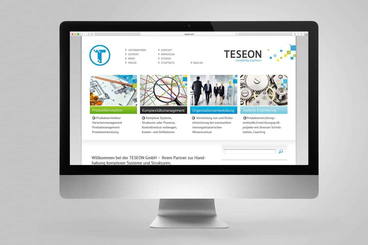Website TESEON Corporate Design