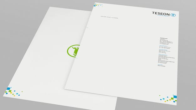 Briefpapier TESEON Corporate Design